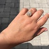 4.25ctw Antique Pear Shaped Diamond Cluster Pendant/Ring GIA G SI1 7