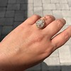 4.25ctw Antique Pear Shaped Diamond Cluster Pendant/Ring GIA G SI1 13