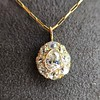 4.25ctw Antique Pear Shaped Diamond Cluster Pendant/Ring GIA G SI1 3