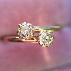 .42ctw Antique Old Mine Cut Diamond Bypass Ring
