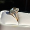 4.37ctw Antique Cushion Cut Cluster Ring 29