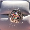 4.37ctw Antique Cushion Cut Cluster Ring 10
