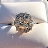4.37ctw Antique Cushion Cut Cluster Ring 24
