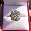 4.37ctw Antique Cushion Cut Cluster Ring 18