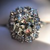 4.37ctw Antique Cushion Cut Cluster Ring 22