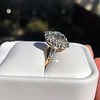 4.37ctw Antique Cushion Cut Cluster Ring 25