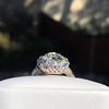 4.37ctw Antique Cushion Cut Cluster Ring 28