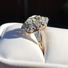 4.37ctw Antique Cushion Cut Cluster Ring 5