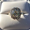 4.37ctw Antique Cushion Cut Cluster Ring 11