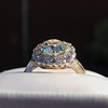 4.37ctw Antique Cushion Cut Cluster Ring 7