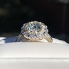 4.37ctw Antique Cushion Cut Cluster Ring 4