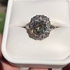 4.37ctw Antique Cushion Cut Cluster Ring