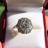 4.37ctw Antique Cushion Cut Cluster Ring 17