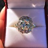 4.37ctw Antique Cushion Cut Cluster Ring 20
