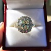 4.37ctw Antique Cushion Cut Cluster Ring 13