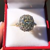 4.37ctw Antique Cushion Cut Cluster Ring 15