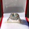 4.37ctw Antique Cushion Cut Cluster Ring 16