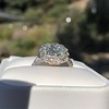 4.37ctw Antique Cushion Cut Cluster Ring 9