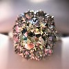 4.37ctw Antique Cushion Cut Cluster Ring 2