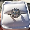 4.37ctw Antique Cushion Cut Cluster Ring 19