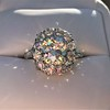 4.37ctw Antique Cushion Cut Cluster Ring 23