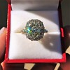 4.37ctw Antique Cushion Cut Cluster Ring 14