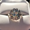 4.37ctw Antique Cushion Cut Cluster Ring 8