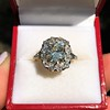 4.37ctw Antique Cushion Cut Cluster Ring 12