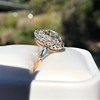 4.37ctw Antique Cushion Cut Cluster Ring 31