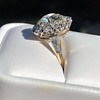 4.37ctw Antique Cushion Cut Cluster Ring 1