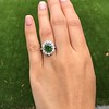 4.38ctw Art Deco Russian Demantoid & Diamond Cluster Ring 15