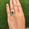 4.38ctw Art Deco Russian Demantoid & Diamond Cluster Ring 17