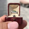4.38ctw Art Deco Russian Demantoid & Diamond Cluster Ring 26