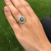 4.38ctw Art Deco Russian Demantoid & Diamond Cluster Ring 14