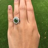 4.38ctw Art Deco Russian Demantoid & Diamond Cluster Ring 13