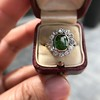 4.38ctw Art Deco Russian Demantoid & Diamond Cluster Ring 34