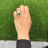 4.38ctw Art Deco Russian Demantoid & Diamond Cluster Ring 21
