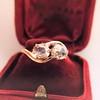 .45ctw Antique Rose Cut Diamond Toi et Moi Ring 18