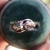 .45ctw Antique Rose Cut Diamond Toi et Moi Ring 7
