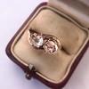 .45ctw Antique Rose Cut Diamond Toi et Moi Ring 13