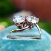 .45ctw Antique Rose Cut Diamond Toi et Moi Ring 8