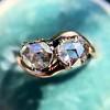 .45ctw Antique Rose Cut Diamond Toi et Moi Ring 5