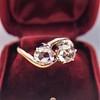 .45ctw Antique Rose Cut Diamond Toi et Moi Ring 17