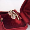 .45ctw Antique Rose Cut Diamond Toi et Moi Ring 6