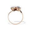 .45ctw Antique Rose Cut Diamond Toi et Moi Ring 1