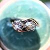.45ctw Antique Rose Cut Diamond Toi et Moi Ring 15