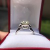 4.71ct Antique Light Yellow Emerald Cut Diamond Ring GIA WX VS 2