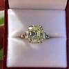 4.71ct Antique Light Yellow Emerald Cut Diamond Ring GIA WX VS 4