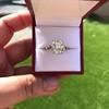 4.71ct Antique Light Yellow Emerald Cut Diamond Ring GIA WX VS 12