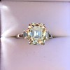 4.71ct Antique Light Yellow Emerald Cut Diamond Ring GIA WX VS 5